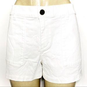 Ann Taylor LOFT White Denim Shorts Pockets Jean 10